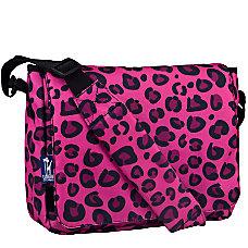 Wildkin Kickstart Messenger Bag Pink Leopard