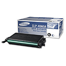 Samsung CLP K660A High Yield Black