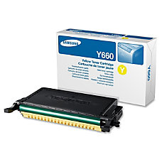 Samsung CLP Y660A High Yield Yellow