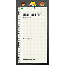 Custom Vertical Banner Notebook