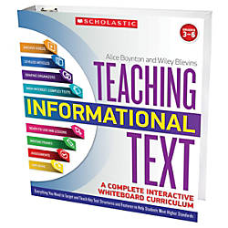 Scholastic Teacher Resources Teaching Informational Text