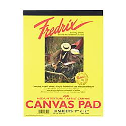 Fredrix Canvas Pad 9 x 12