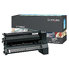 Lexmark C7700KH Black Toner Cartridge