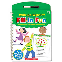 Scholastic Write OnWipe Off Book Fill