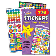 Trend Sticker Pad Super Stars And