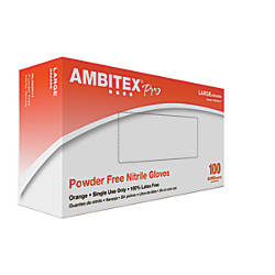 Ambitex High Visibility Nitrile Gloves Small
