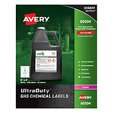 Avery UltraDuty GHS Chemical Labels 4