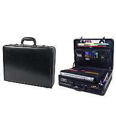 Samsonite Bonded Leather Computer Attach Black