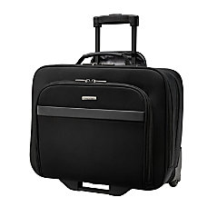 Samsonite Double Gusset Wheeled Portfolio Black