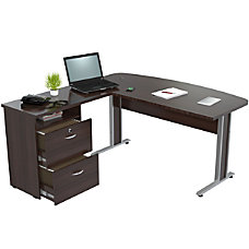 Inval Contemporary Engineered Wood L Desk