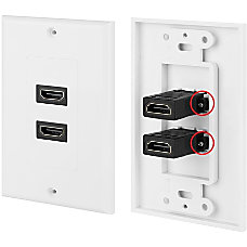 4XEM 2 PortOutlet Female HDMI Wall