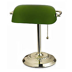 bankers desk lamp greenbrass by office depot officemax. Black Bedroom Furniture Sets. Home Design Ideas