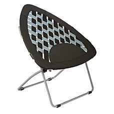 Brenton Studio Bungee Folding Chair Black