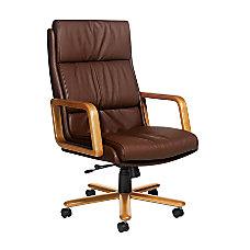 Global Genoa High Back Leather Chair