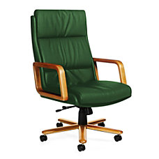 Global Genoa High Back Leather Chair