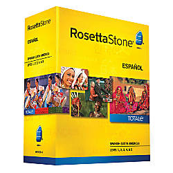 Rosetta Stone® Spanish (Latin America) TOTALe™ V4, Levels 1-5, For PC/Mac, Traditional Disc