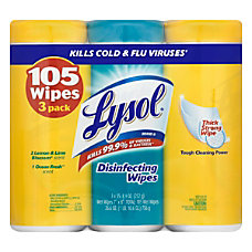 Lysol Disinfectant Wipes Lemon And Ocean