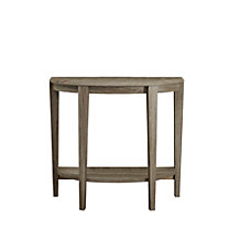 Monarch Specialties Hall Console Table Crescent