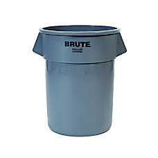 Rubbermaid Commercial BRUTE Round Plastic Refuse