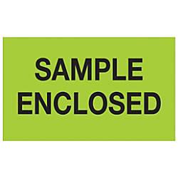 Tape Logic Preprinted Labels Sample Enclosed