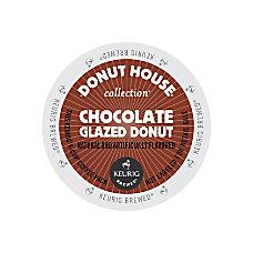 Donut House Chocolate Glazed Donut Coffee