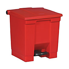Rubbermaid Step On Square Plastic Trash