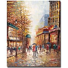 Trademark Global French Street Scene Canvas