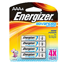 Energizer Lithium Advanced AAA Batteries Pack