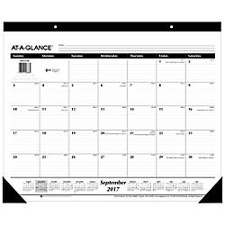 at a glance 16 month academic desk pad calendar 22 x 17 september