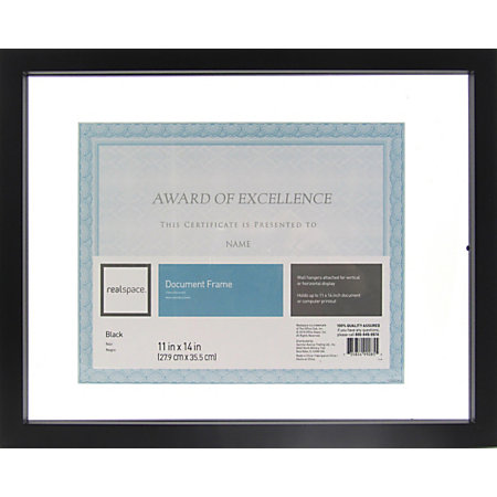 realspace gallery floating document frame 11 x 14