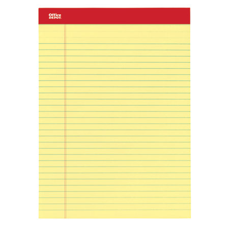 Office Depot Brand Perforated Writing Pads 8 12 x 11 34 Legal – 3 Line Writing Paper