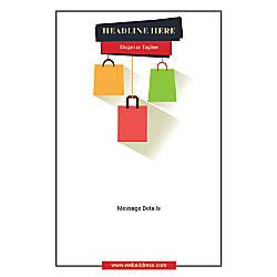 Custom Vertical Poster Shopping Bags