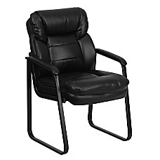 Flash Furniture Leather Sled Base Side