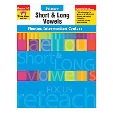 Evan Moor Phonics Intervention Center Short