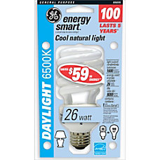 GE Spiral Compact Fluorescent Bulb 26