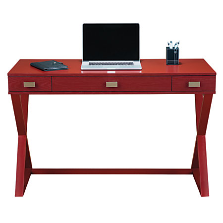 See Jane Work Kate Writing Desk Red By Office Depot Officemax