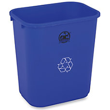 Genuine Joe Recycle Wastebasket 15 H