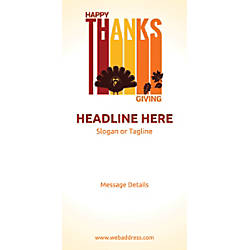 Custom Vertical Banner Happy Thanksgiving