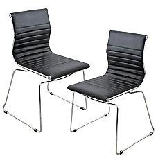 Lumisource Master Chair BlackStainless Steel Set