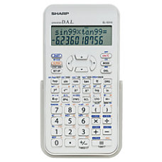 Sharp EL 531XBDW Handheld Scientific Calculator