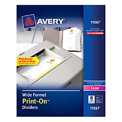 Avery Print On 30percent Recycled Dividers