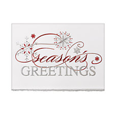 Personalized Holiday Card With Envelope Sample