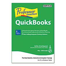 Individual Software Professor Teaches Quickbooks 2015