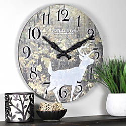 FirsTime Forest Deer Round Wall Clock