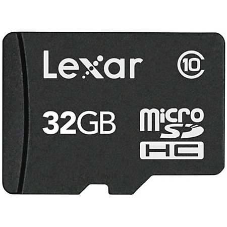 lexar micro sd class 10 memory card 32gb by office depot. Black Bedroom Furniture Sets. Home Design Ideas