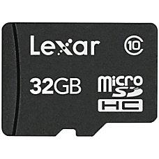 Lexar Micro SD Class 10 Memory