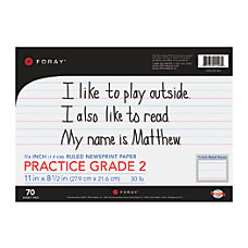 FORAY Newsprint Writing Tablet Grade 2