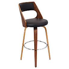 Lumisource Cecina Bar Stool BrownWalnut