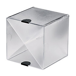 eldon spacemaker x cube clear officemax 20209132 black newell office depot