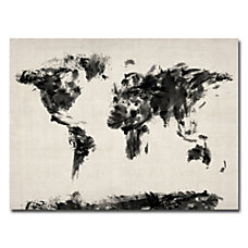 Trademark Global Abstract Map Of The